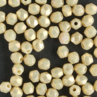 3mm Round Fire Polish Luster Iris Antique Beige