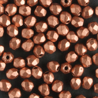 3mm Round Fire Polish Matte Metallic Copper
