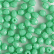 3mm Round Fire Polish Green Turquoise