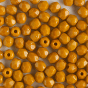 3mm Round Fire Polish Goldenrod