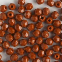 3mm Round Fire Polish Umber
