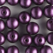 6mm Round Glass Pearls Purple Velvet