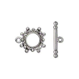 Toggle Clasp Antique Silver