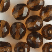 8mm Round Fire Polish Brown