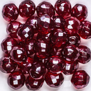 10mm Round Fire Polish Garnet/Hematite