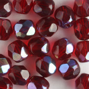 6mm Round Fire Polish Garnet AB