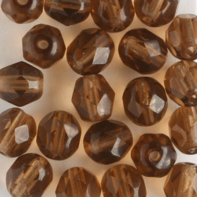 6mm Round Fire Polish Brown Luster