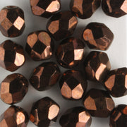 6mm Round Fire Polish Bronze