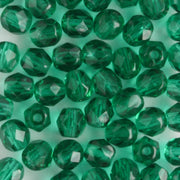 4mm Round Fire Polish Emerald Green