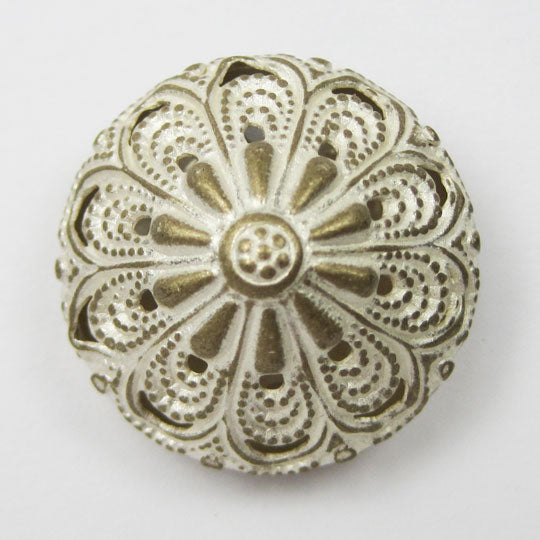 Metal Button Silver