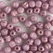 3mm Melon Luster Opaque Lilac
