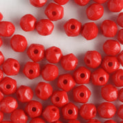 3mm English Cut Opaque Red