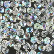 3mm Round Fire Polish Crystal AB