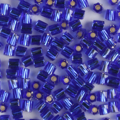 10/0 Hex Cut with a Twist Silver Lined Cobalt Blue