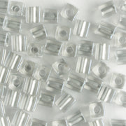 3mm Cube Metallic Silver Lined Crystal
