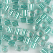 3mm Cube Aqua Lined Crystal