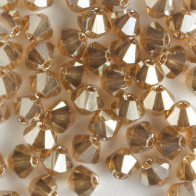4mm Bicone Crystal Golden Flare (Preciosa)