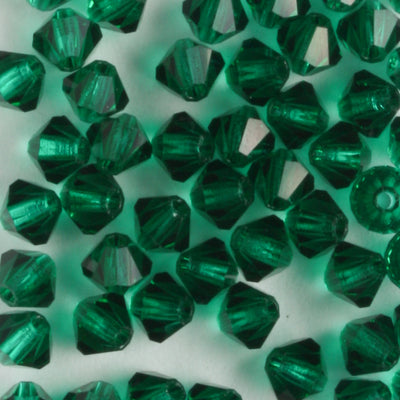 4mm Bicone Emerald (Preciosa)