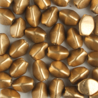 Pinch Bead Metallic Flax