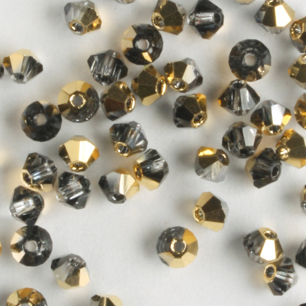 3mm Bicone Crystal Aurum Half (Preciosa)