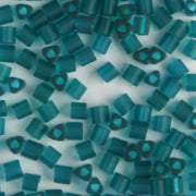 11/0 Triangle Transparent Frosted Teal