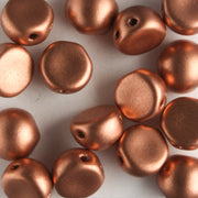 2 Hole Cabochon Matte Metallic Copper (CzechMates)