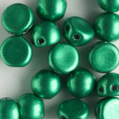 2 Hole Cabochon Saturated Metallic Lush Meadow (CzechMates)
