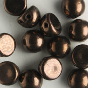 2 Hole Cabochon Dark Bronze (CzechMates)