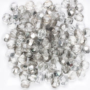 5mm Round Fire Polish Clear/Silver