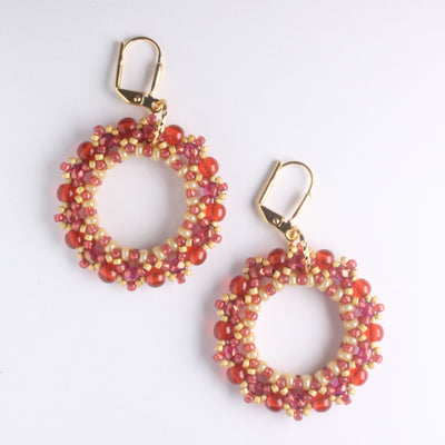 Miniduo Hoop Earring Kit - Cranberry
