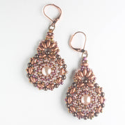 Kashmir Earring Kit - Pink and Copper