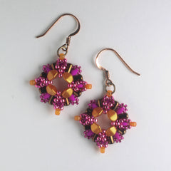 Chiara Earring Kit - Plum Begonia