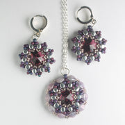 Rolling Rivoli Pendant and Earring Kit - Amethyst