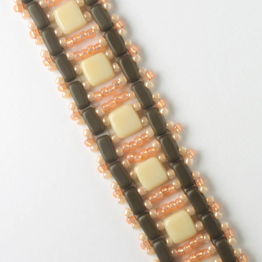 Brick and Tile Ladder Bracelet Kit - Chocolate Apricot
