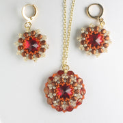 Rolling Rivoli Pendant and Earring Kit - Perssimon
