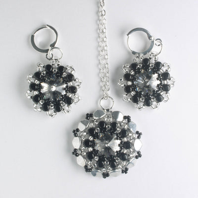 Rolling Rivoli Pendant and Earring Kit - Midnight Star