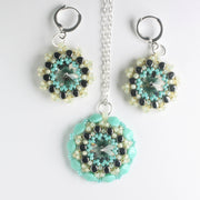 Rolling Rivoli Pendant and Earring Kit - Lemon Rain