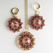Rolling Rivoli Pendant and Earring Kit - Clove Blush
