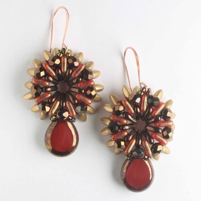 Sunray Earring Kit - Red and Bronze