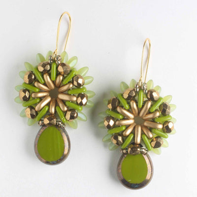 Sunray Earring Kit - Olive and Bronze