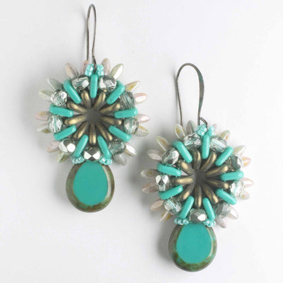 Sunray Earring Kit - Turquoise and Olive