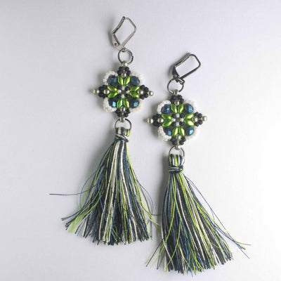 Lisette Earring Kit - Lime Indigo