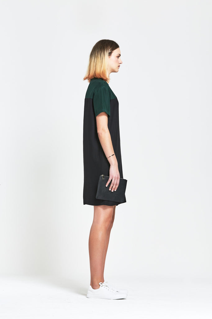 Premium Silk 'Ange' Oversized T Shirt Dress - clémence
