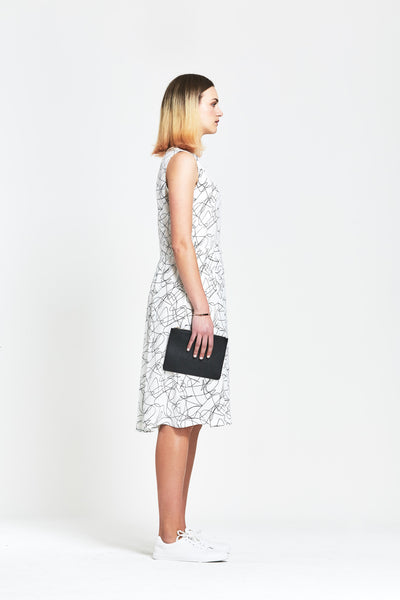 Premium Silk 'Hana' Printed Sleeveless Dress - clémence
