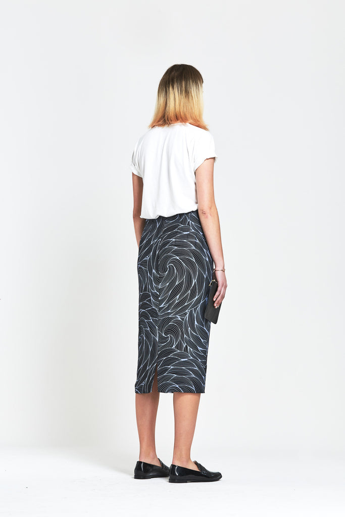 Premium Silk Floral Pencil Skirt - clémence