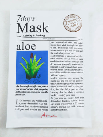 Ariul 7 days sheet mask aloe