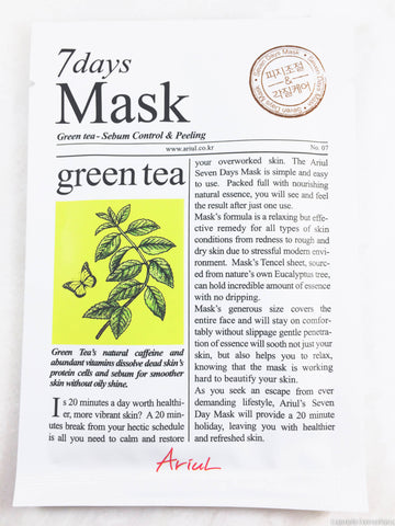 Ariul 7 days sheet mask green tea