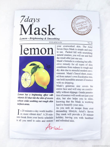 Ariul 7 Days Mask - Lemon