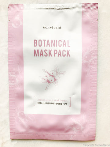 Bonvivant bontanical mask pack adonosin and acai berry