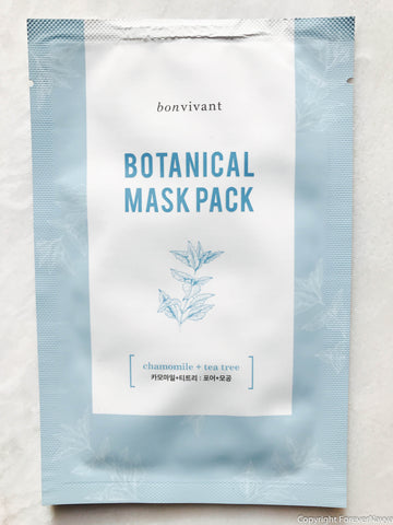 Bonvivant bontanical mask pack chamoli and tea tree